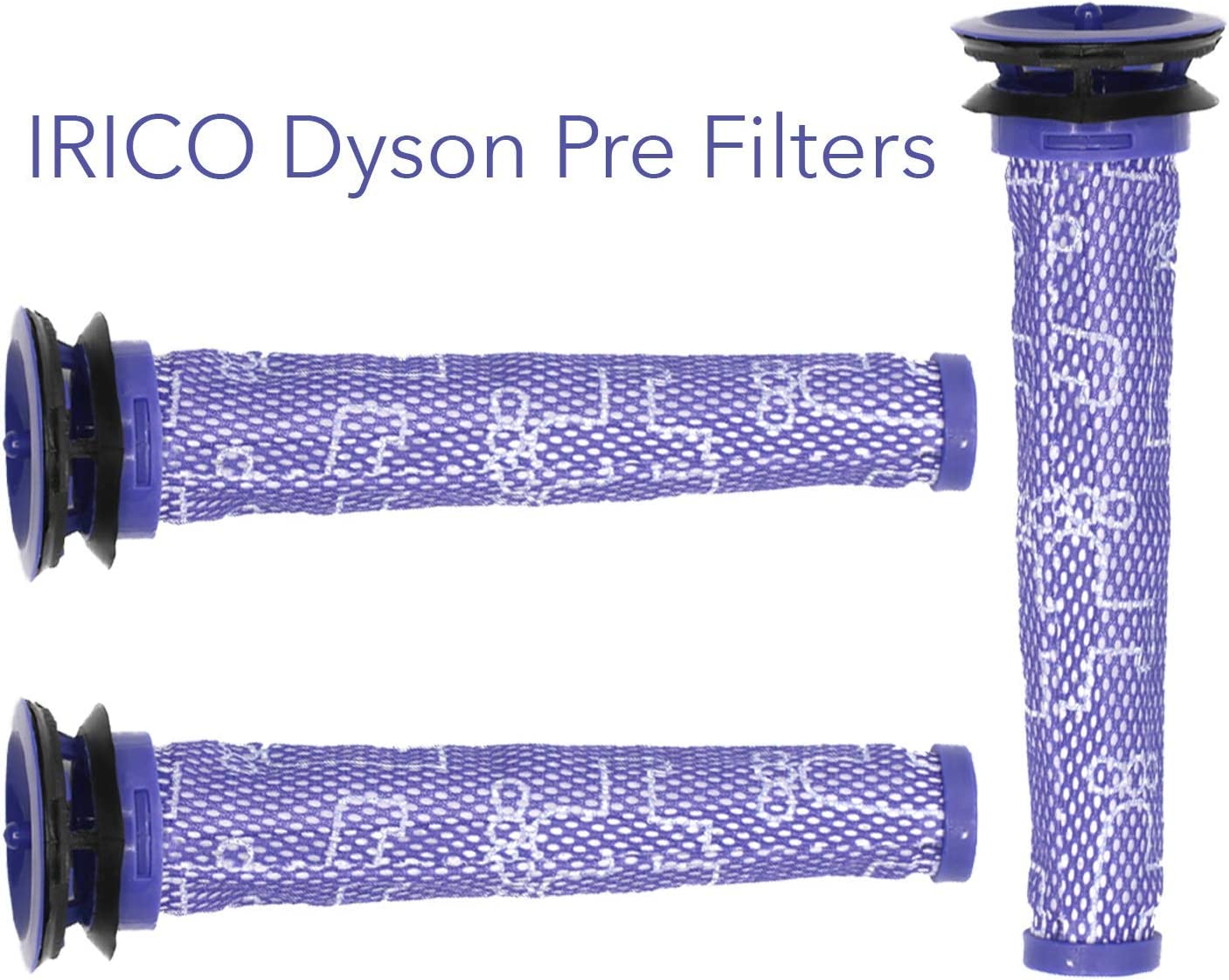 IRICO Dyson V6 V7 V8 Filter | 3 Pre Filters for Dyson V8+, V8, V7, V6, DC62, DC61, DC59, DC58 Vacuum | Replacement Parts for #965661-01