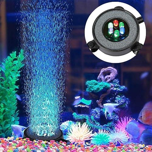 LED aquarium air stone disk