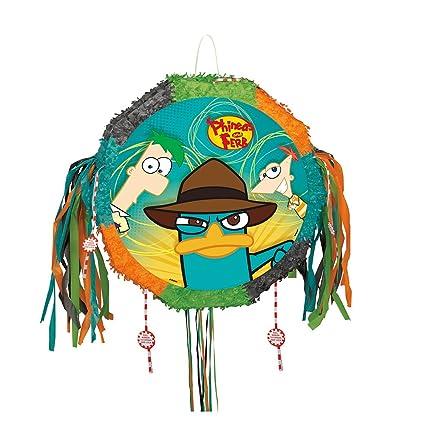 Amazon.com: Phineas y Ferb Piñata, Pull Cadena: Toys & Games