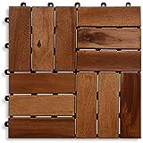 Sehr Holzfliesen (10 Stück) Holz-Klick Fliesen für Balkon und Terrasse QI77