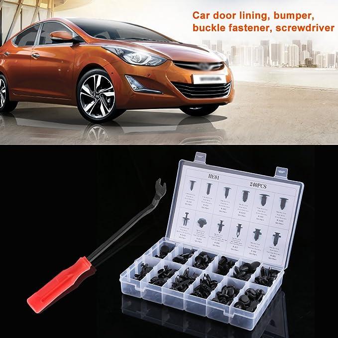 Auto Rivetti Fermo Push Pin Clip Trim con Pinze Rimuovere per Toyota Honda