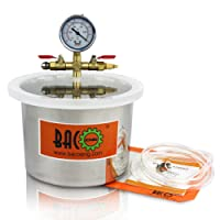 BACOENG6.8LStainlessSteelVacuumChamber for Degassing Urethanes, Resins, Silicones and Epoxies(H16.5CM * OD22.5CM)