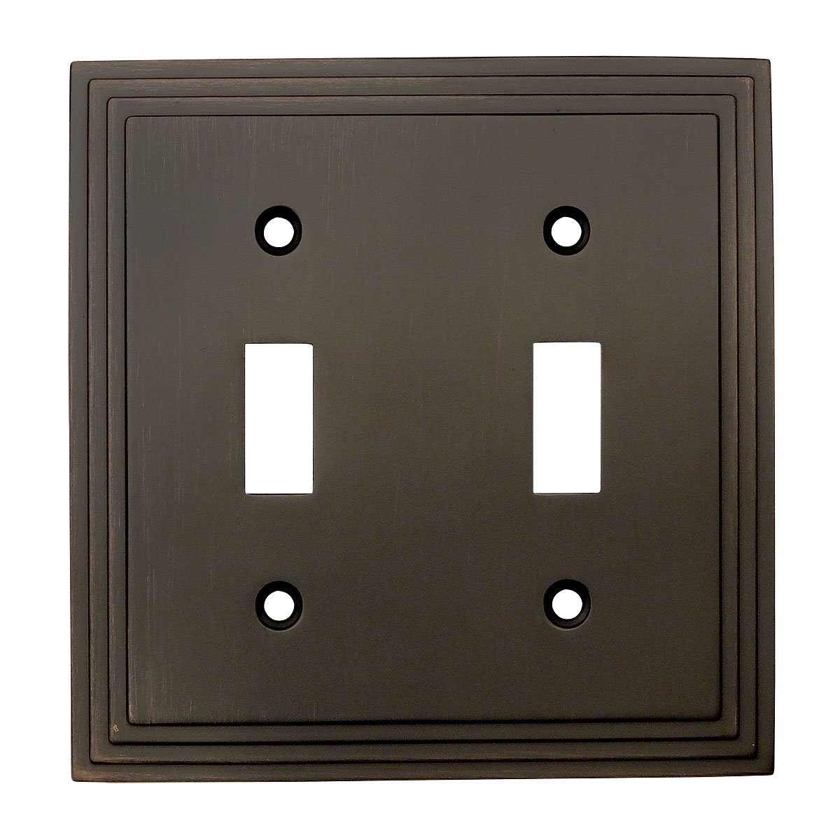 Cosmas 25033 Orb Oil Rubbed Bronze Double Toggle Switch