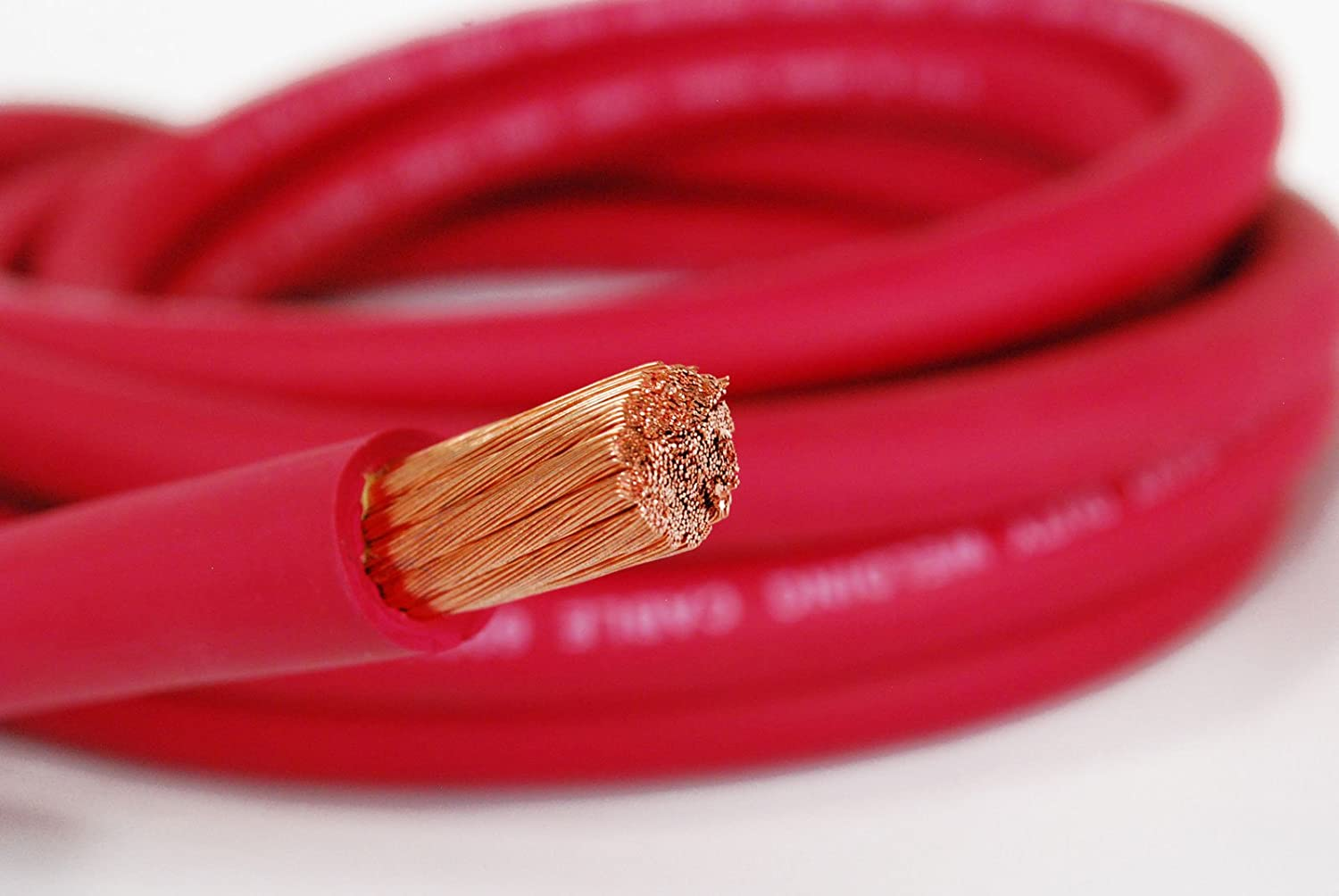 MADE IN USA TEMCo WC0281-20 ft 3//0 Gauge AWG Welding Lead /& Car Battery Cable Copper Wire RED