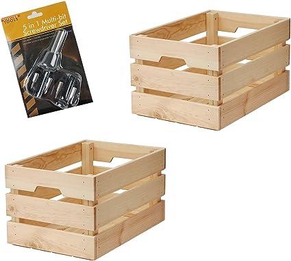Ikea Knagglig Panier Caisse En Bois Brut Vintage Bundle Boite Pour La Maison Ou Au