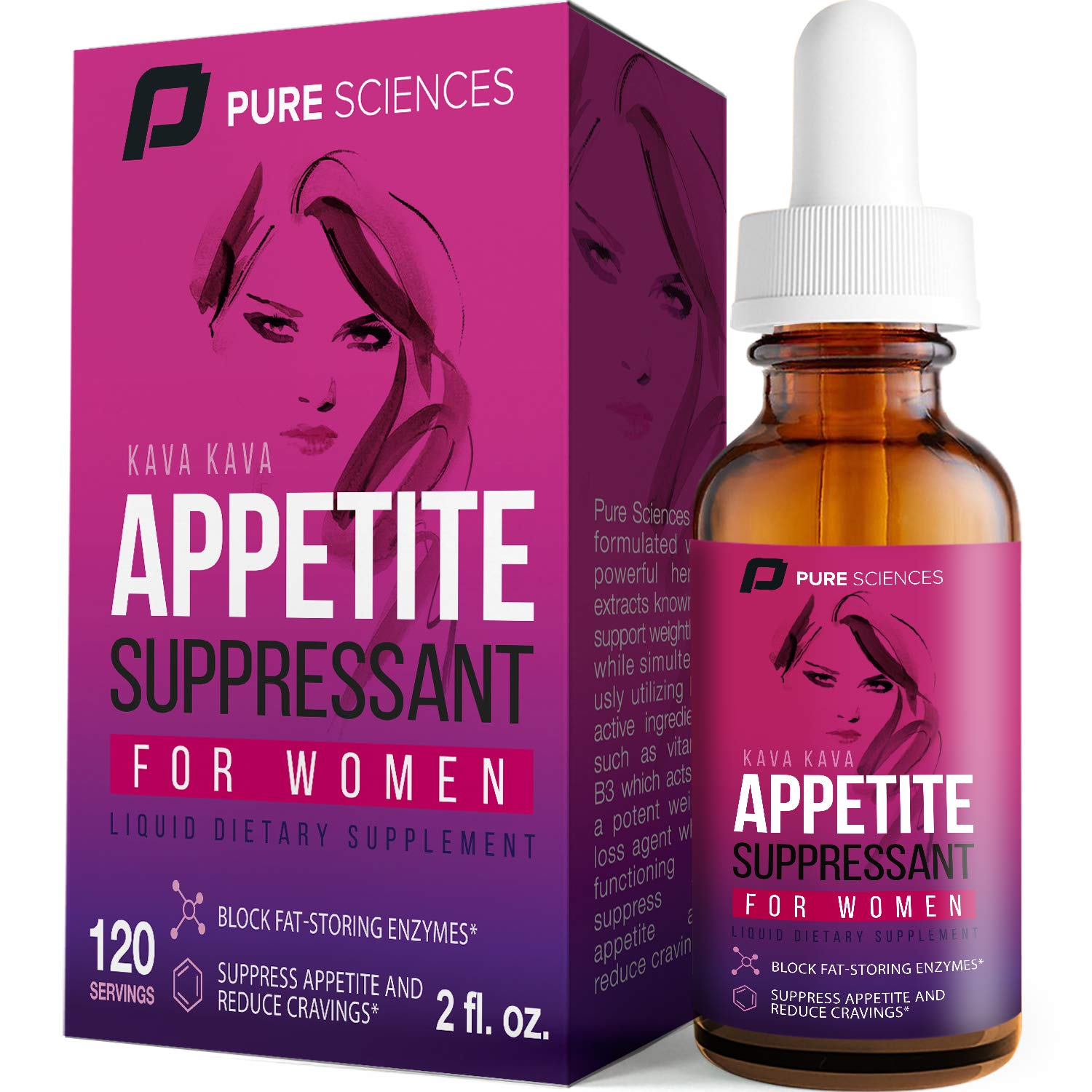 Appetite Suppressant for Women - Superior Weight Loss Kava Kava Formula - Powerful Natural Ingredients - Increase Energy - Boost Metabolic Rate - Pure Sciences - 60DAY by Pure Sciences