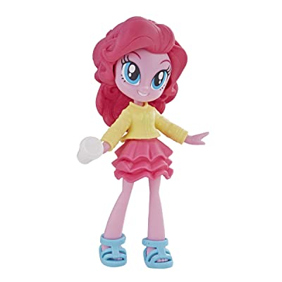 """My Little Pony Equestria Girls Fashion Squad Pinkie Pie 3"""" Mini Doll with Removable Outfit, Shoes & Accessory, for Girls 5+: Toys & Games"""