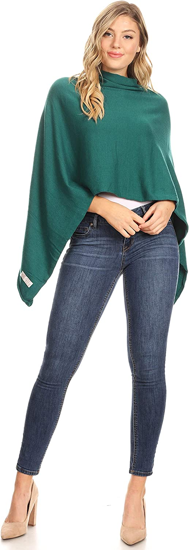 Sakkas Laurel Womens Super Soft Lightweight Cape Poncho Blanket Shawl Pullover