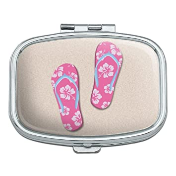 bf2545c6b82e39 Amazon.com  Pink Flip Flops on Sand with Hibiscus Flowers Sandals ...