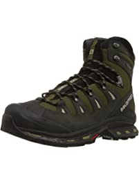 b43df208565 Salomon Men's Quest 4D 2 GTX Lightweight & Durable Leather / Canvas Hiking  Boots