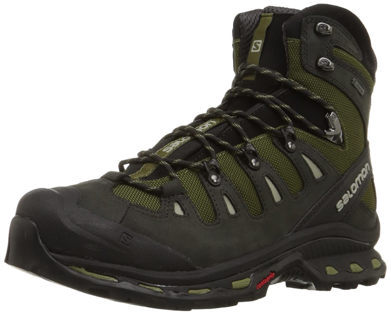 SalomonQuest 4D 2 GTX - Zapatillas de Trekking y Senderismo de Media caña Hombre 40 2/3 EU|Verde (Iguana Green / Asphalt / Dark Titanium)