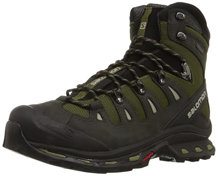 Salomon Men\'s Quest 4D 2 GTX Lightweight & Durable Leather / Canvas Hiking  Boots