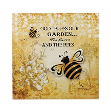 Amazon.com: Rustic Wall Art, Bumble Bee 3-d Garden Metal Mount ...