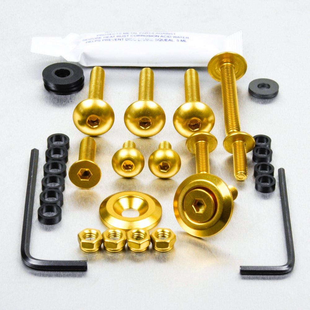 Kit visserie car/Ã/©nage en aluminium ZRX1200S 01-03 Noir