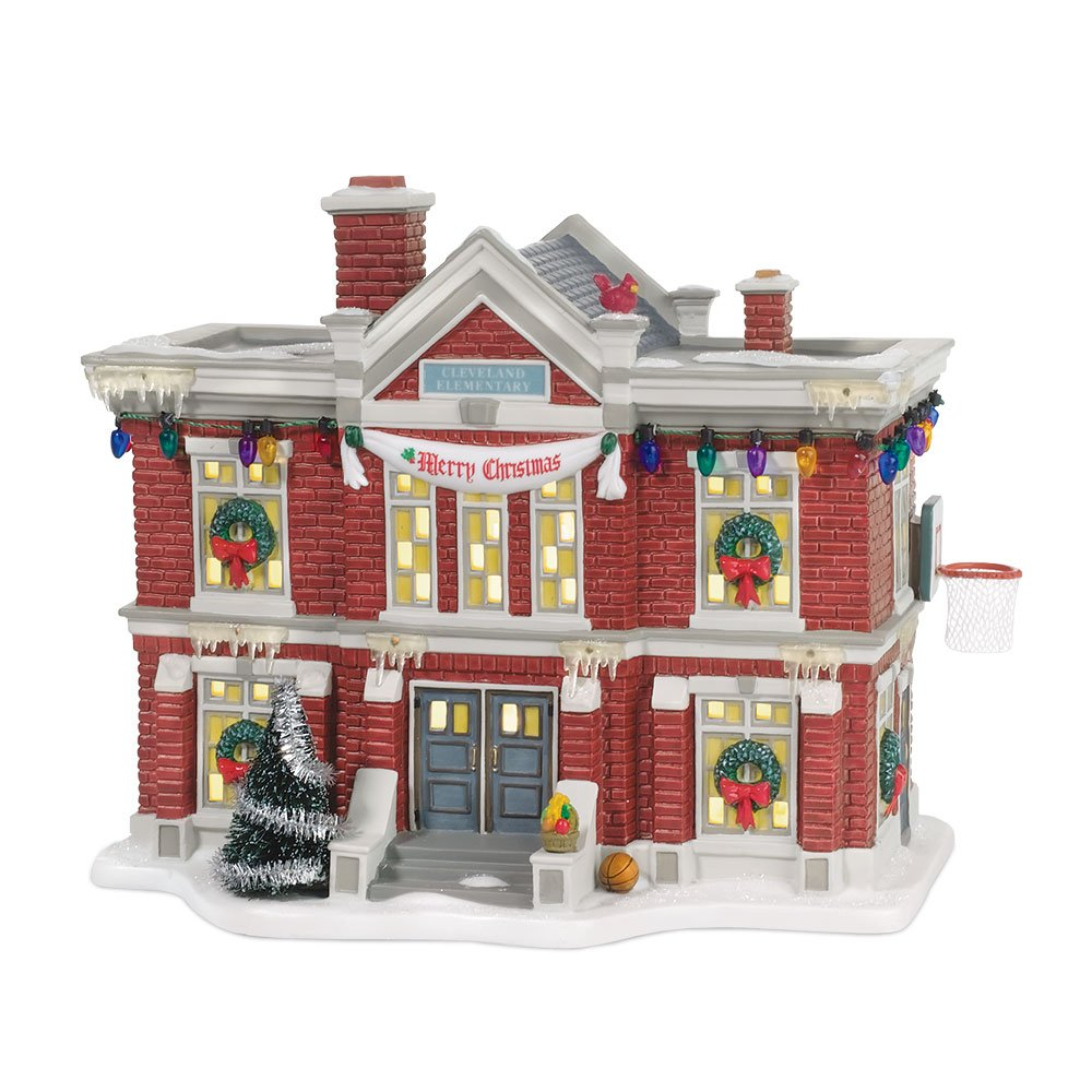 Department 56 Christmas Story Village Cleveland Elementary School by Department 56