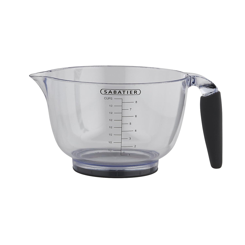 Sabatier Plastic Batter Bowl, 8-Cup, Gray 5188692