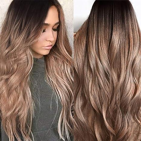 Yivise - Peluca de pelo largo y rizado de moda sexy, color ...