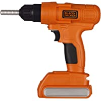 Black+Decker Jr. Electronic Power Drill, Boys, Kids Pretend Play Tool with Realistic Light, Sound & Action!