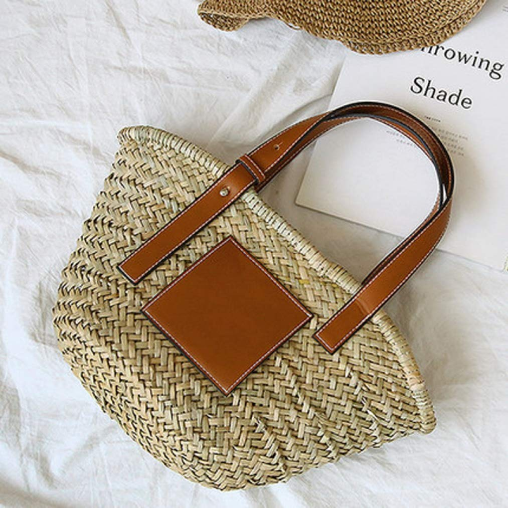 Large Capacity Basket Bag Woven Straw Big Bag Super popular Luxury Beach Tote