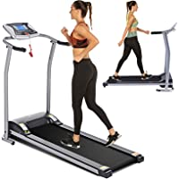 Electric Folding Treadmill for Home with LCD Monitor,Pulse Grip and Safe Key Fitness Motorized Running Jogging Walking…