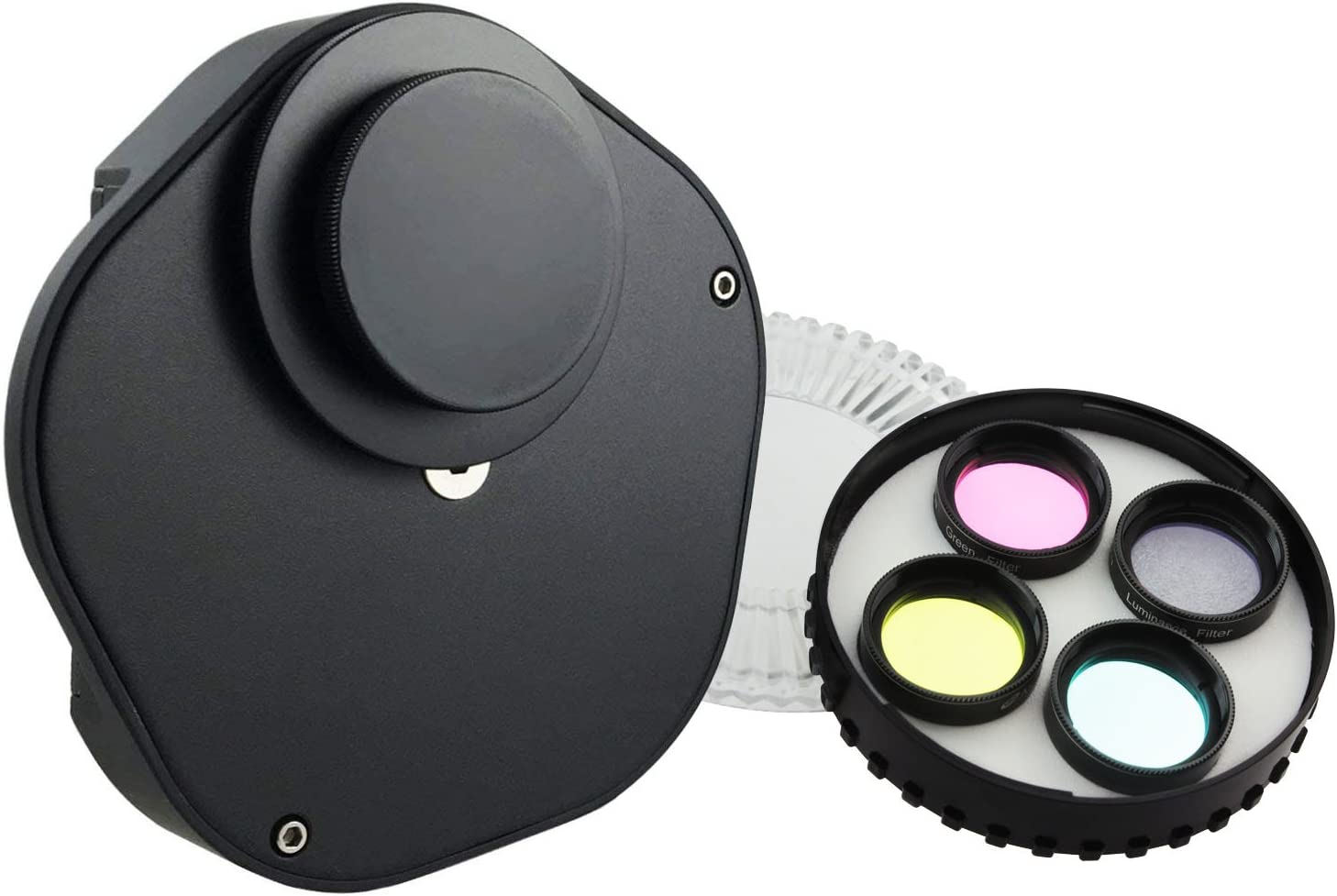 Astromania 1.25 Multiple 9-Position Filter Wheel for Telescope Allowing You to Image Without Any Reflections or Stray Light