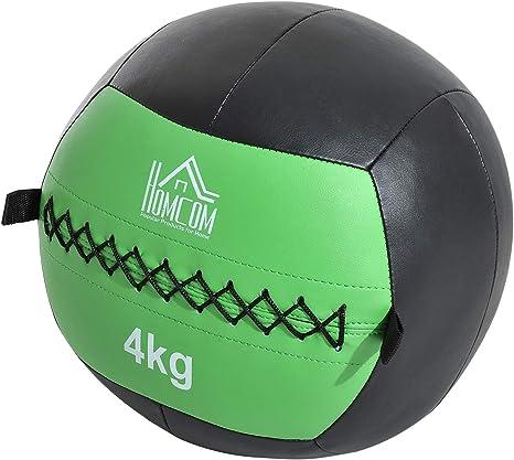 HOMCOM Pelota médico Wall Ball 4 kg Crossfit Fitness sintética ф35 ...