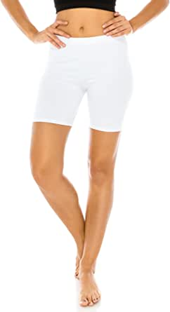 The Classic Women's Stretch Cotton Jersey Bike Yoga Workout Shorts S to 3XL Plus