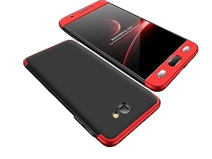 timeless design 5cfa2 b4c9a Bounceback ® Samsung Galaxy J7 Prime 2 Cover Case 3 in1 360º Anti Slip  Super Slim Back Cover for Samsung Galaxy J7 Prime 2 (Black & Red)