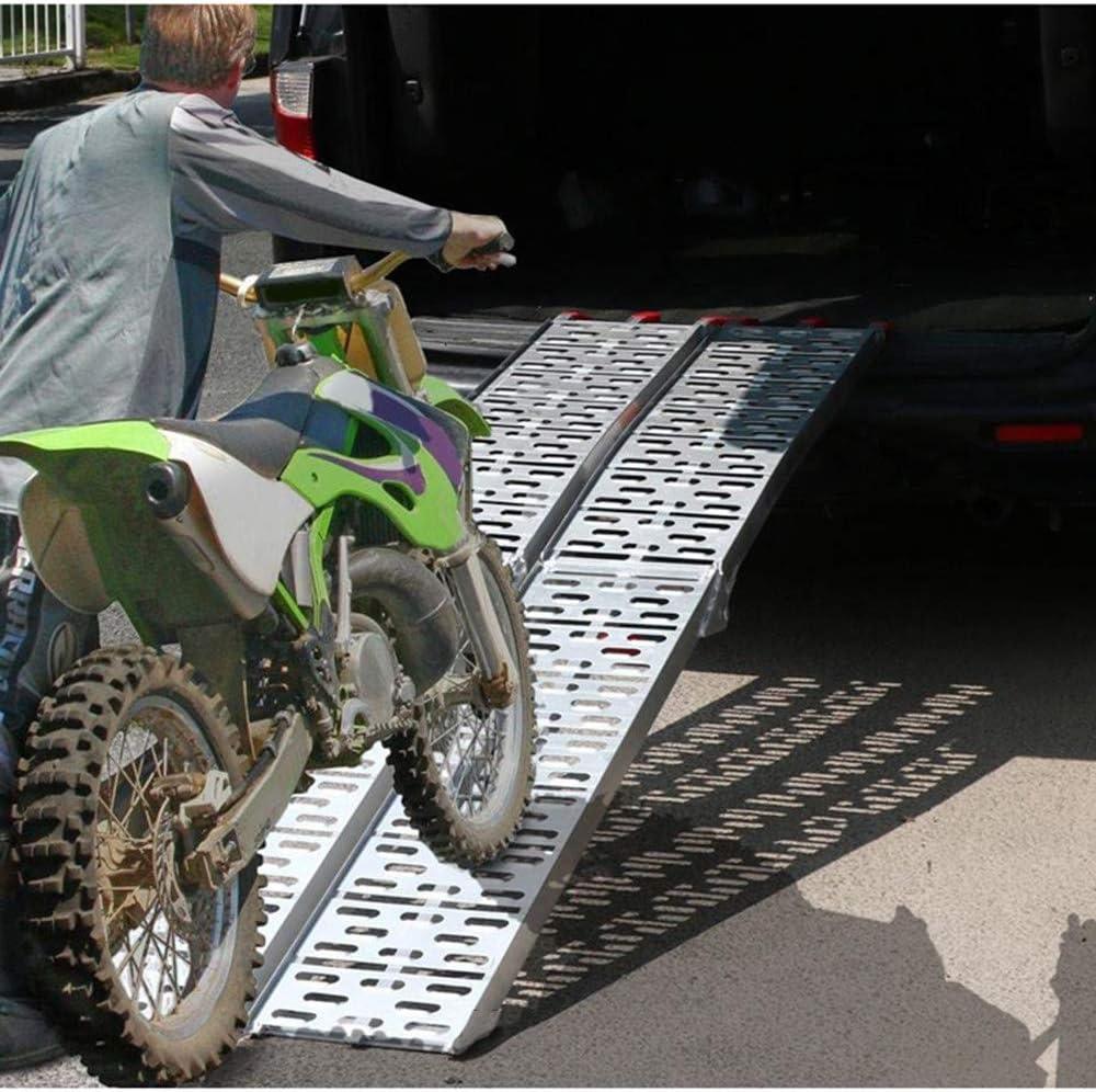Roboraty Rampa Plegable portátil para Motocicleta, Rampa Plegable portátil múltiple, Fácil de Usar y Transportar, Capacidad de Transporte de 340 kg, Material de Aluminio