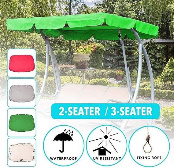 RZiioo Cubierta de Repuesto para toldo Giratorio 3 plazas Impermeable con Bloqueo UV Sombrilla Cubierta de toldo Giratorio para jardín Patio Exterior: Amazon.es: Deportes y aire libre