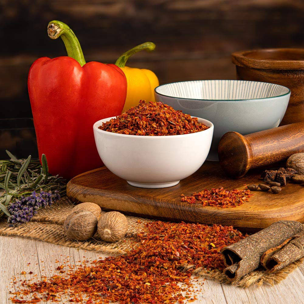 Sweet Red Bell Pepper Flakes. Amazing Quality - 100g