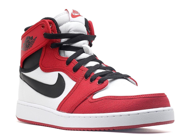 White, black-gym red Nike - AIR JORDAN 1 MID
