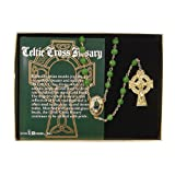 "Amazon Price History for:20"" Filigree Celtic Cross Irish Glass Beaded Rosary"