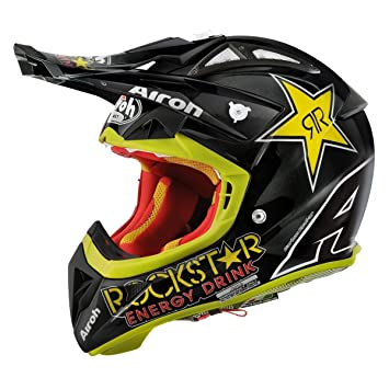Airoh Terminator 2.1 Rockstar, Casco para cross, color Negro, talla XL (61