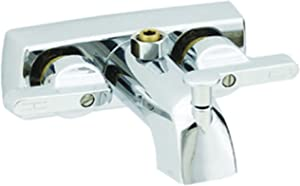 "American Brass 381 RV Metallic Tub/Shower Diverter with Lever Handles, Vacuum Breaker and Shower Kit 4"" - Chrome"