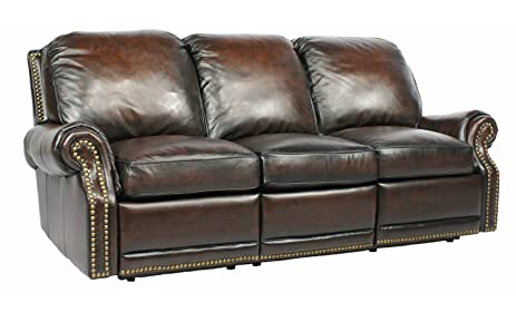 Power Recline BarcaLounger Premier II Electric Reclining Sofa   Stetson  Coffee