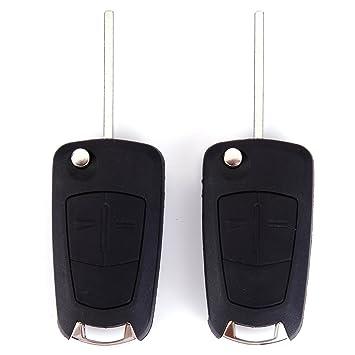 2x Carcasa 2 Botones Repuesto de Mando a Distancia para Opel ...