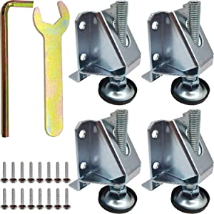RONYOUNG 4PCS 2 inch Height Adjustable Heavy Duty Furniture Legs Leveler Hexagon Nuts Lock