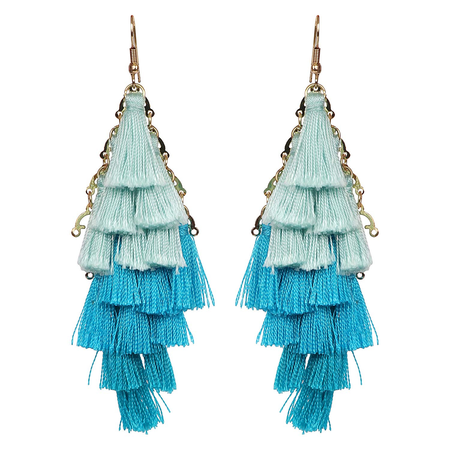 ASHIS Collection Thread teasel statement layed 3 color dangle earring for women /& girls Combo Pack available in 3 colors !!!