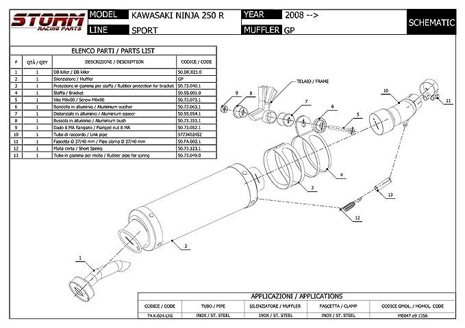 74.K.024.LXS Escape Storm by Mivv Silenciador Gp Acero para ...