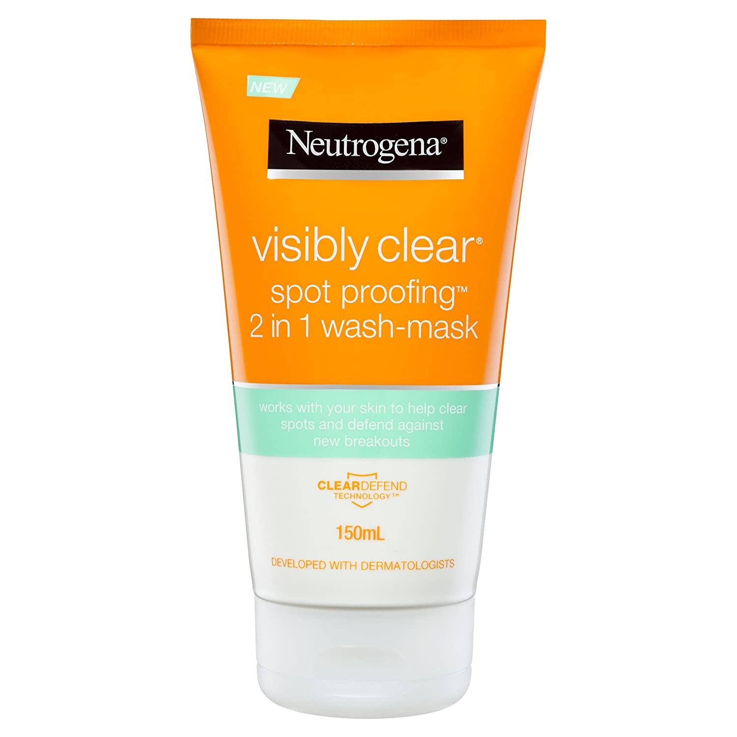 Neutrogena Visibly Clear Spot Proofing 2-in-1 Wash-Mask, 150ml J&J 11911