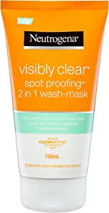 Neutrogena Visibly Clear 2 in 1 Wash-Mask, 150mL