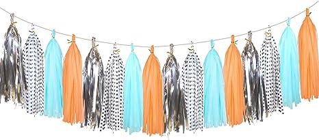 20 pcs brillante papel de seda borlas pancarta decorativa para ...