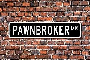 VinMea Funny Metal Sign Sign, Pawn Shop Decor, Pawn Shop Owner, Swap Shop, Aluminum Sign Wall Art Decor Metal Sign,Public Sign,Decoration Sign 4x18 Inches