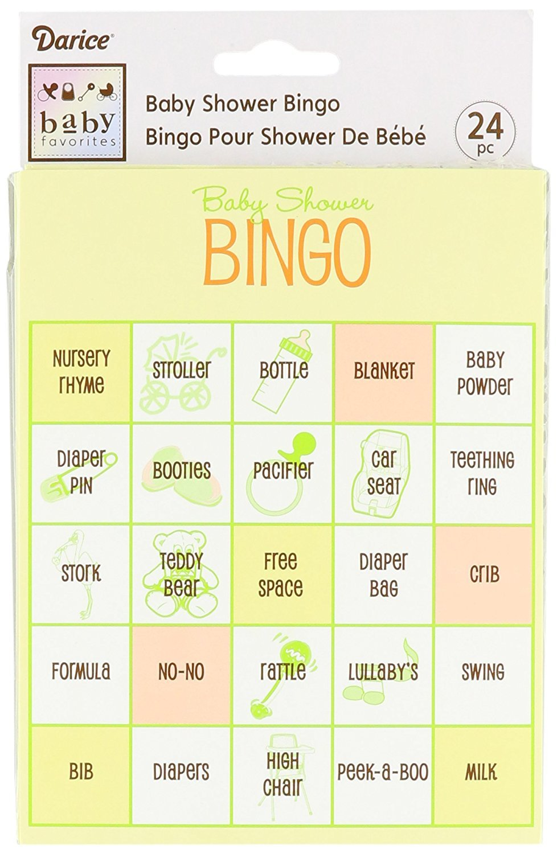 Darice Baby Shower Bingo Game, 96-Piece