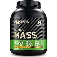 Optimum Nutrition ON Serious Mass Hoogcalorisch gewicht gainer proteïnepoeder, wei-eiwit, vitaminen, creatie- en…
