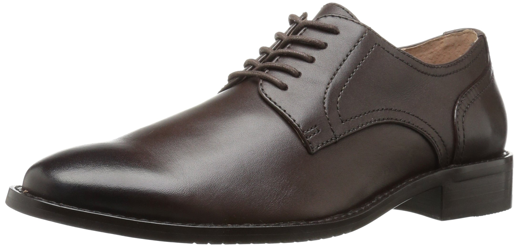 206 Collective Men's Concord Plain-Toe Oxford Shoe, Chocolate Brown, 11 D US by 206 Collective (Image #1)