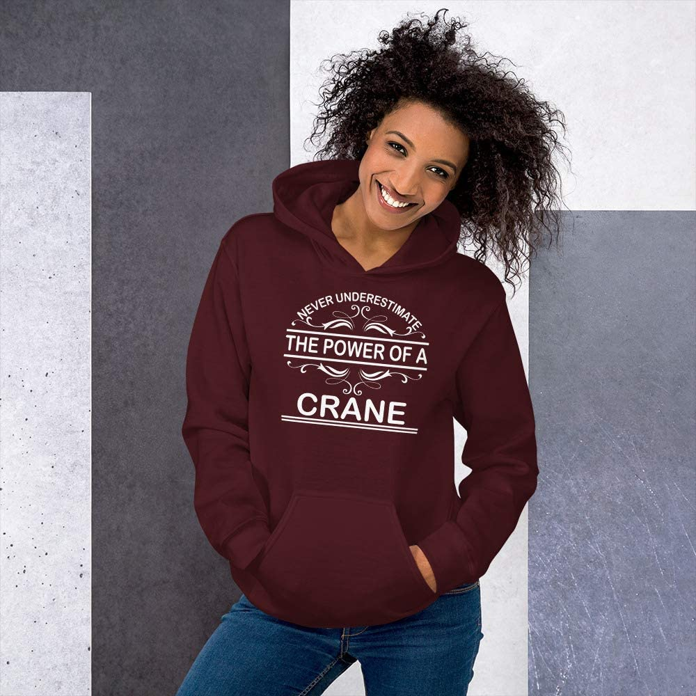 Never Underestimate The Power of Crane Hoodie Black
