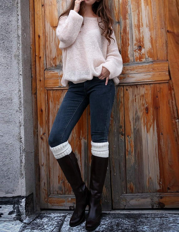 newrong Womens Knit Boot Socks Topper Cuffs Leg Warmers