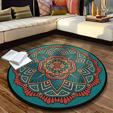 WTXD alfombras Redondas Felpudo Moqueta Tapiz Esterilla